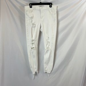 Express stretch ankle legging mid rise jeans                 A21